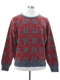 1980's Mens Totally 80s Snowflake Sweater