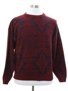 1980's Mens Le Tigre Totally 80s Cosby Style Sweater