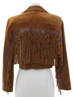 1980's Womens Totally 80s Western Suede Leather Jacket