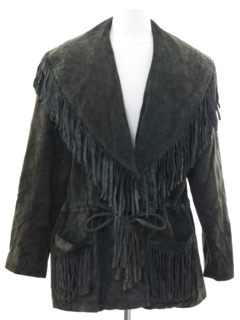 1980's Womens Fringed Suede Leather Jacket