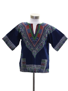 1970's Unisex Girls or Boys Dashiki Style Shirt