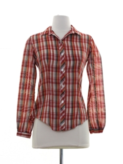 1980's Womens or Girls Plaid Shirt