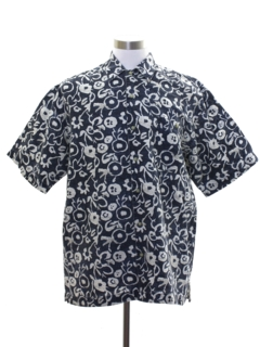 1990's Mens Bugle Boy Graphic Print Sport Shirt