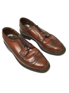1970's Mens Accessories - Leather Wingtip Oxford Shoes