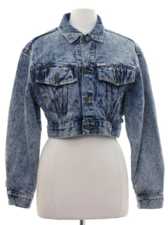 1980's Womens Totally 80s Guess Denim Grunge Jacket