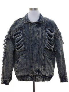 1980's Unisex Totally 80s Thrasher Acid Washed Denim Grunge Jacket