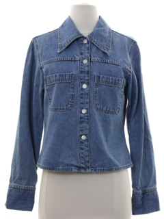 1980's Womens Denim Shirt Jacket