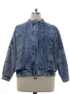 1980's Unisex Totally 80s Acid Washed Denim Grunge Jacket