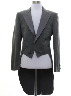 1980's Mens Christian Dior Tails Tuxedo Jacket