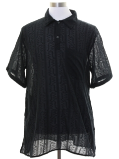 1980's Mens Sheer Club or Rave Shirt