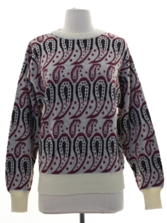 1970's Womens Paisley Sweater
