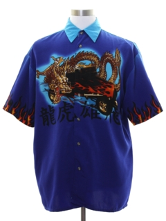 1990's Mens Wicked 90s Club or Rave Dragon Shirt