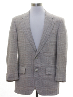 1980's Mens Plaid Blazer Sport Coat Jacket