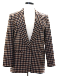1970's Womens Pendleton Wool Blazer Sport Coat Jacket