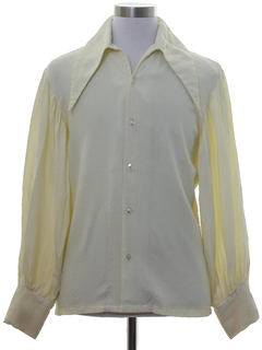 1960's Mens Rare Mod Peacock Revolution Shirt