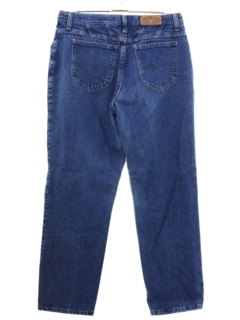 1990's Womens Stone Washed Slight Taper Cut Straight Leg Jeans Pants
