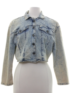 1990's Womens Acid Washed Grunge Denim Jacket