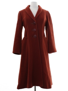 1960's Womens Wool Coat Jacket