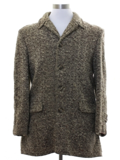 1950's Unisex Wool Car Coat Jacket
