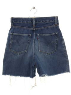 1950's Womens REAL VINTAGE Levis 701 Big E Selvedge Blueline Denim Cut Off Shorts