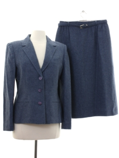 1980's Womens Totally 80s Wool Suit