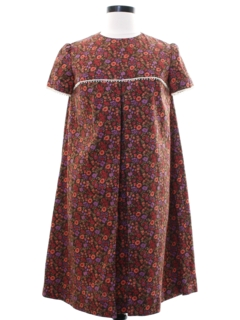 1960's Womens A-Line Hippie Dress