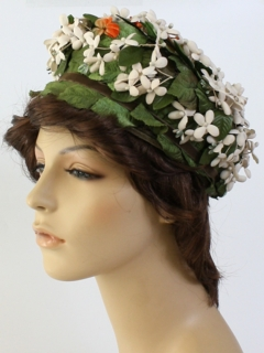 1950's Womens Accessories - Cloche Fancy Hat