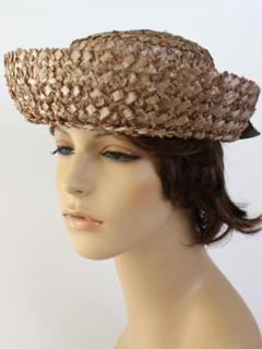 1950's Womens Accessories - Boater Hat