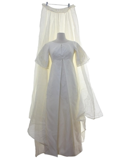 1960's Womens A-Line Wedding Dress