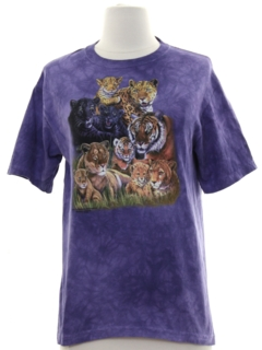 1990's Womens y2k Animal T-shirt