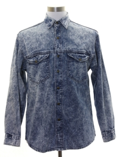 1980's Mens Totally 80s Acid Washed Gap Shirt