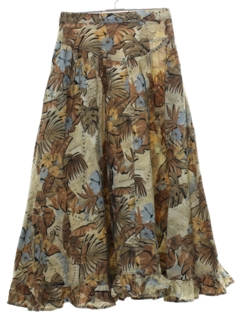 1990's Womens Maxi Hippie Hawaiian Skirt