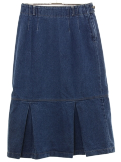 1980's Womens Denim Skirt