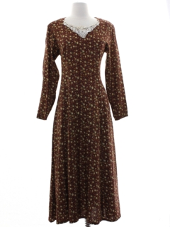 1980's Womens Hippie Prairie Dress