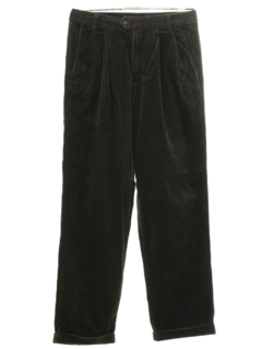 1990's Mens Pleated Wide Wale Corduroy Pants