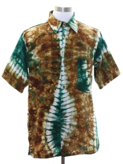 1980's Mens Tie Dye Hippie Shirt