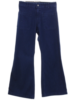 1970's Unisex Navy Issue Bellbottom Jeans Pants
