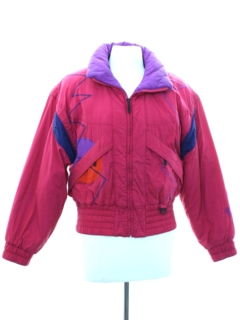 1980's Womens Totally 80s Tyrolia Ski Jacket