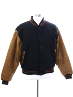 1990's Mens Brooks Brothers Wool Letterman Style Jacket
