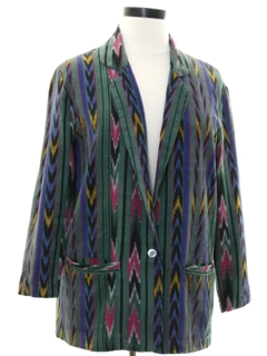 1980's Womens Hippie Blazer Jacket