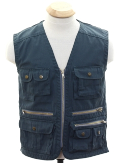 1980's Mens Safari Style Denim Vest