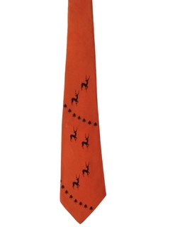 1940's Mens Christmas Wide Swing Necktie