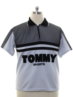 1980's Mens Tommy Hilfinger Totally 80s Hiphop Knit Shirt