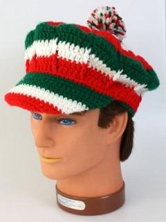 1970's Mens Accessories - Crocheted Hippie Hat