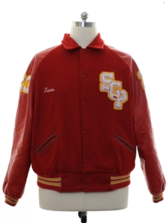 1980's Mens Wool Letterman Jacket