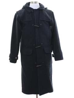 1980's Mens Mod Wool Nautical Overcoat Jacket
