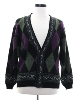 1980's Womens Totally 80s Cardigan Sweater