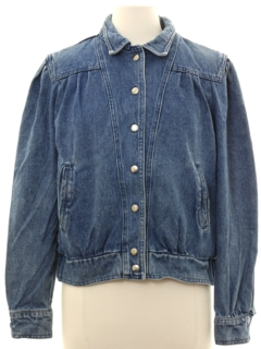 1980's Womens Sergio Valente Denim Jacket
