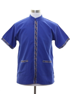 1970's Mens Asian Inspired Hippie Shirt
