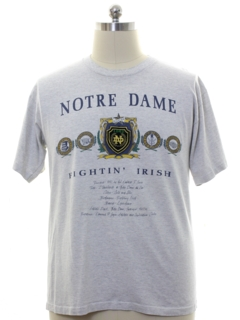 1990's Mens Notre Dame College T-shirt